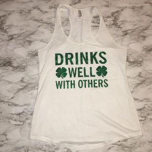 Tops - Large Drinks Well With Others Graphic Tank Top